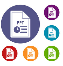 File ppt icons set vector