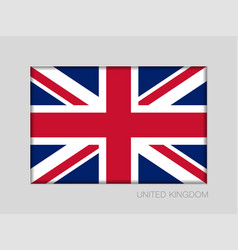 flag of united kingdom national ensign aspect vector image