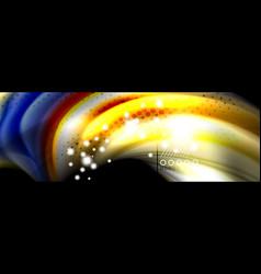 Fluid liquid wave pattern vector