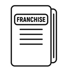 Franchise file folder icon outline style vector