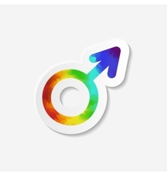 Gender identity icon Male Mars symbol vector image