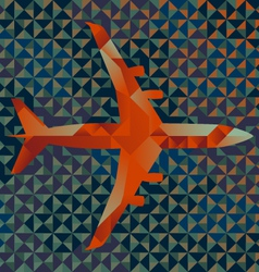 Geometric Airplane vector image