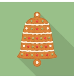 Gingerbread bell vector