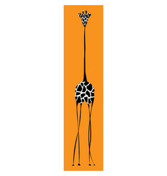 giraffe body on orange background vector image