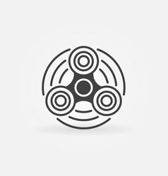 hand spinner minimal icon vector image vector image