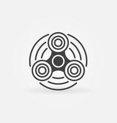 Hand spinner minimal icon vector