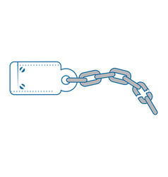 Handcuffs and chain icon vector