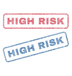 High risk textile stamps vector