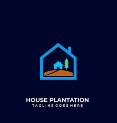 house plantation design template vector image