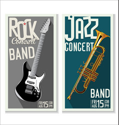 jazz and rock concert banner vector image