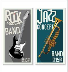 jazz and rock concert banner vector image