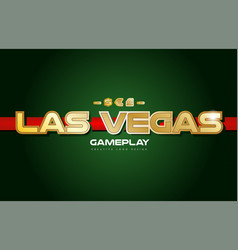 las vegas word text logo banner postcard design vector image