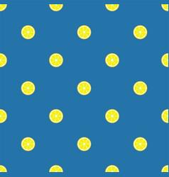 lemon slices seamless pattern flat food texture vector image