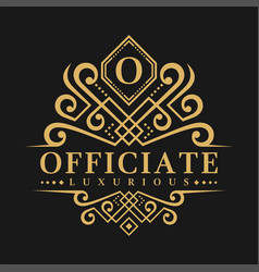 letter o logo - classic luxurious style logo vector image