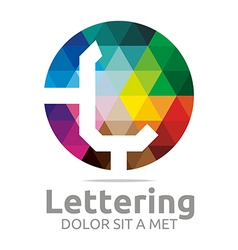 Lettering l rainbow alphabet design vector