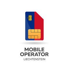 Liechtenstein mobile operator sim card with flag vector