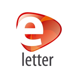 Logo white letter e on an abstract background vector