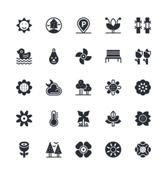Nature Park Icons 4 vector