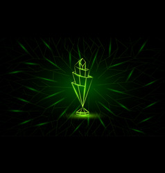 Neon low poly nations league cup banner vector