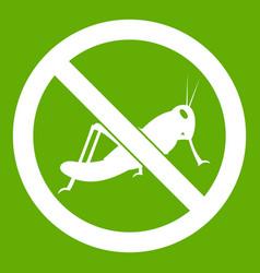 No locust sign icon green vector