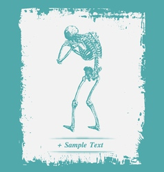 Paper art Human Skeleton vector