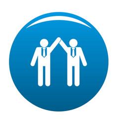 partnership icon blue vector image