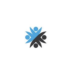 people group teamwork logo sign element design vector image