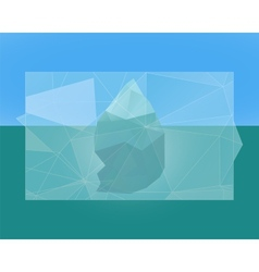 Polygonal iceberg poster banner and flyer vector