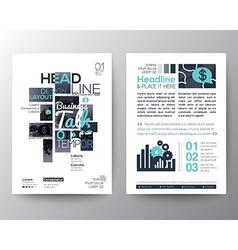 Poster Brochure Flyer design Layout template vector image
