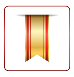 Red gold bookmark banner isolated vector
