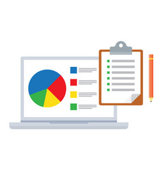 Research and analytics business concept vector