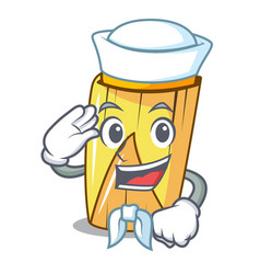 Sailor homemade wrapped tamales isolated on mascot vector