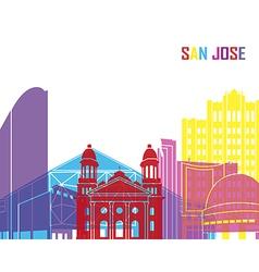 San Jose skyline pop vector image