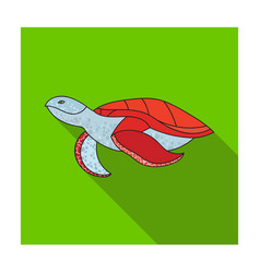 sea turtle icon in flat style isolated on white vector image