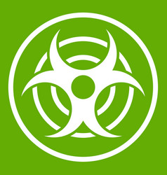 sign of biological threat icon green vector image