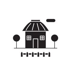 small hut black concept icon small hut vector image