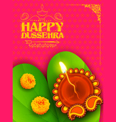 Sona patta for wishing happy dussehra vector