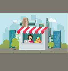 store retail facade flat vector image