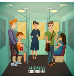 Subway Commuters Background vector image