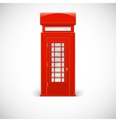 Telephone box Londone style vector