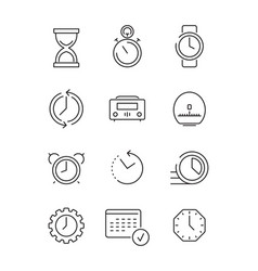 time symbols calendar clock fast work time vector image