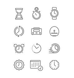 time symbols calendar clock fast work time vector image