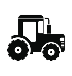 Tractor icon black vector