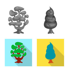 Tree and nature symbol set vector