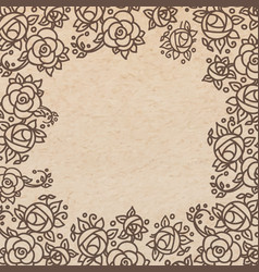 Vintage old paper texture background with floral vector