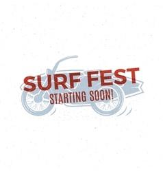 Vintage Surfing tee design Retro Surf fest t vector image