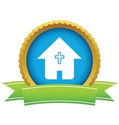 Gold church logo vector image