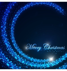 holiday of a flying Christmas star and shiny vector image vector image