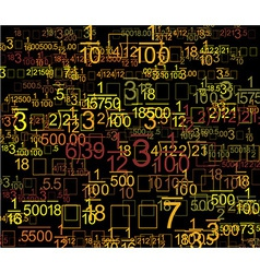 numbers background vector image