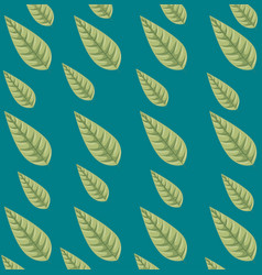 seamless leaves pattern background vector image